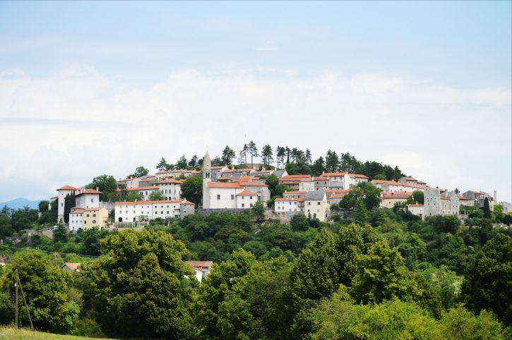 Slovenian town on a hill