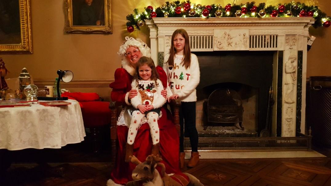 Mrs Claus at Winter Wonderland in Westport House, Mayo