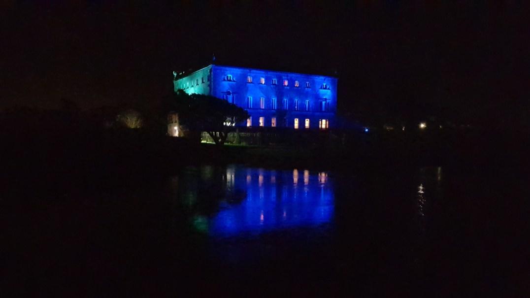 Westport House illuminated for Winter Wonderland
