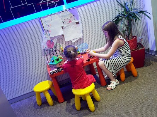 Children's play area at Milan Malpensa Airport