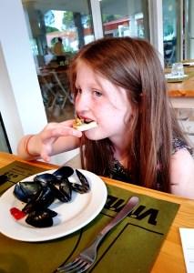 Marina Julia Camping Village; fresh mussels