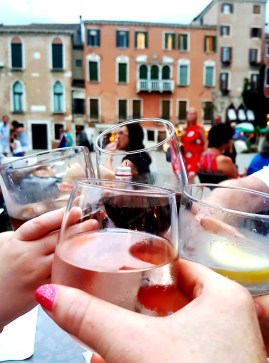 Cheers from Le Café in Venice