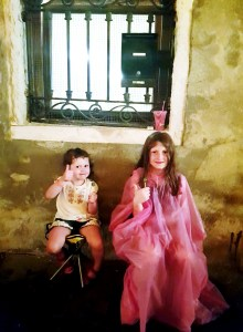 Ponchos and lollipops in a wet Venice
