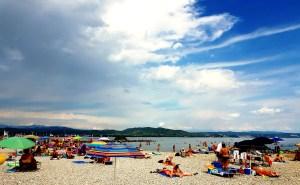 Beach beside Marina Julia Camping Village