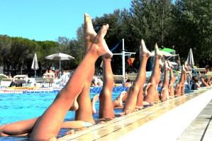 Sychronised swimming at Marina Julia Camping Village