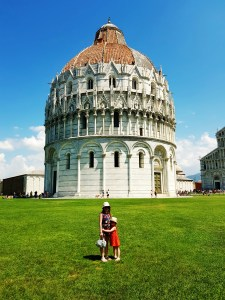 Pisa Baptistry at the Square of Miracles in Pisa