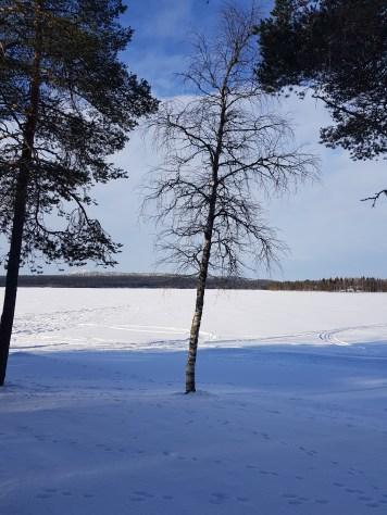 Ice Fishing at Ruka Lake in Finnish Lapland