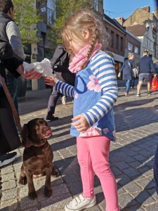 Matilda and Belle the dog in Windsor