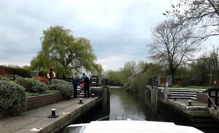 Benson lock on the River Thames in Benson