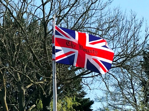 Flying the flag at The Bounty pub on the River Thames