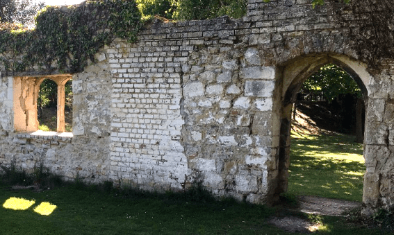 The ruins of Wallingford Castle in Oxfordshire