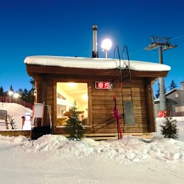 BBQ hut on the slopes of Rosa and Rudolph Family Park in Ruka, Finland