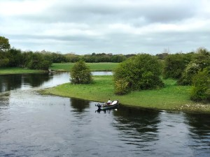 Fishing on the River Shannon beside Shannonbridge Harbour