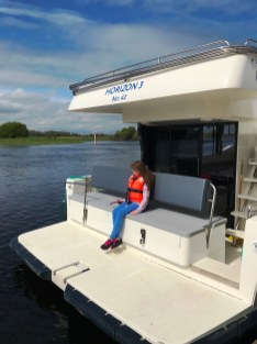 Relaxing on board the Le Boat Horizon 4 on the River Shannon