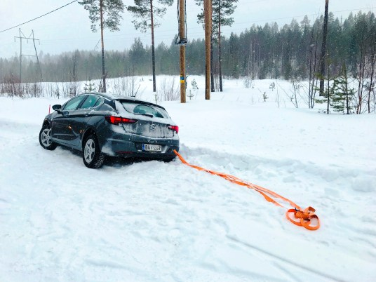Stuck in the snow in Rovaniemi