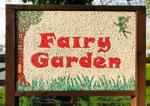 Fairy Garden tiled mosaic at Banagher Harbour, Ireland