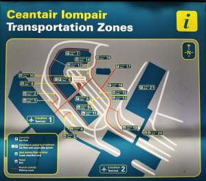 Bus pick up points at Dublin Airport