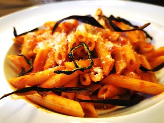 Penne Pasta at Aparthotel Majestic, Predazzo