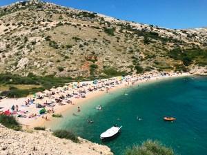 Stara Baška Beach on the Island of Krk, Croatia