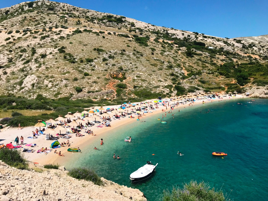 Stara Baška Beach on the Island of Krk, Croatia