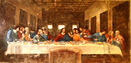 The Last Supper on display at the Leonardo da Vinci Museum, Florence