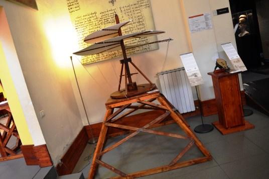 Ornithopter on display at the Leonardo da Vinci Museum, Florence