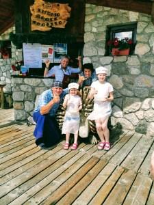 The crew at the Little Delicacies Workshop at Rifugio Monte Agnello in Pampeago