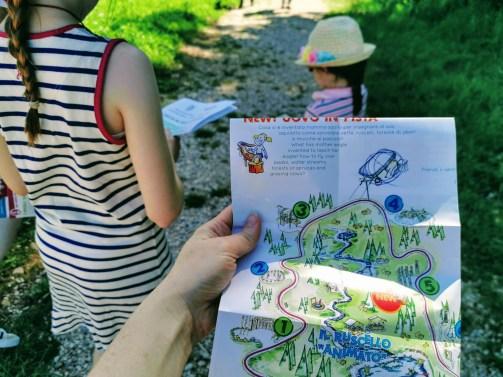 Tesorienteering at Alpe Lusia organised by Kindergarten La Tana degli Snomi