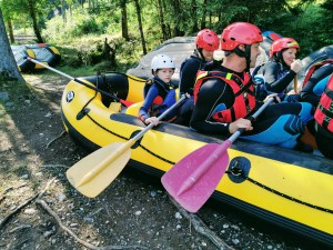 Dry run with Avisio Rafting in ALpe Cermis, Italy