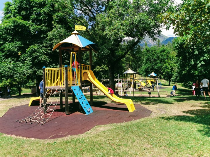 Play ground beside Bar al Parco in Alpe Cermis