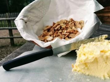 Fresh butter at Hut Malga Ora at Passo Lavazé