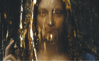 Salvator Mundi on display at the Leonardo da Vinci Museum, Florence
