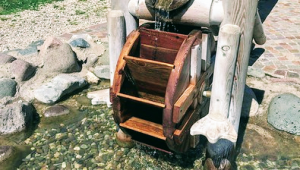 Water wheels at Giro D'Ali in Val di Fiemme