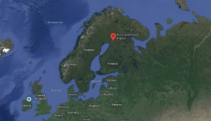 Location of Arctic Guesthouse & Igloos in Ranua, Finnish Lapland