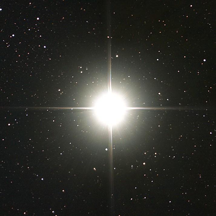 photograph of Alpha Centauri star