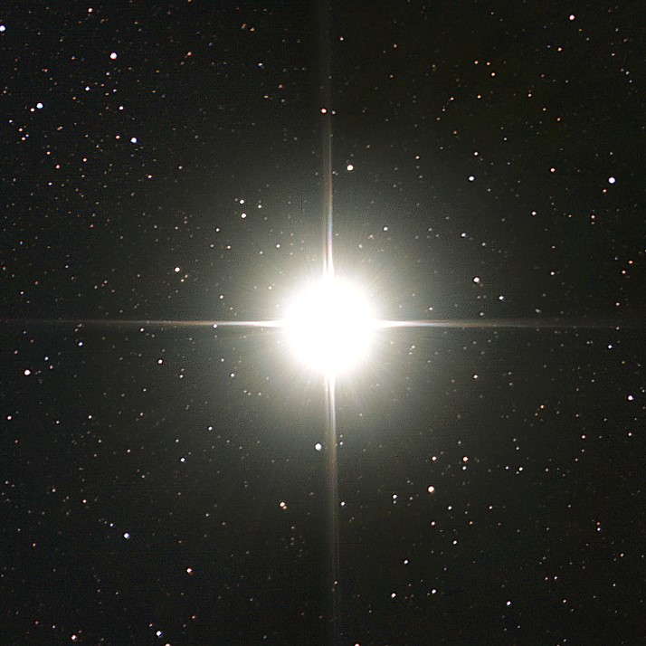 photograph of Alpha Centauri star