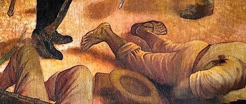 closeup detail of painting