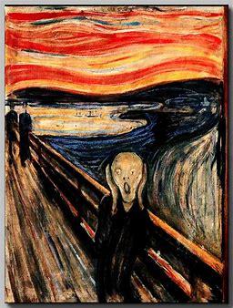 "painting ""Scream"" - of eruption of Krakatau"