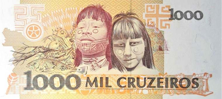 Brazil 1000 Cruzeiros Banknote back