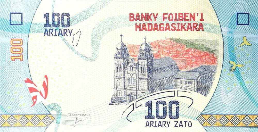Madagascar 100 Ariary Banknote front