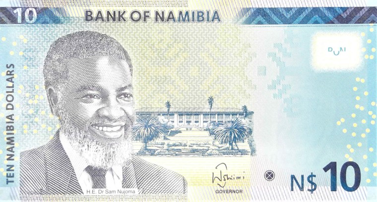 Namibia $10 banknote front
