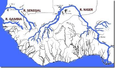 map of senegal rivers