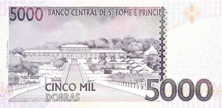 sao tome e principe 5000 dobras 2013 banknote back