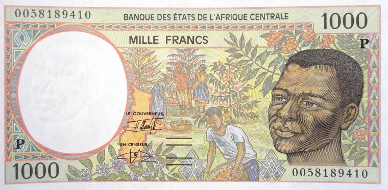 Chad 1000 Franc banknote year 2000 - front
