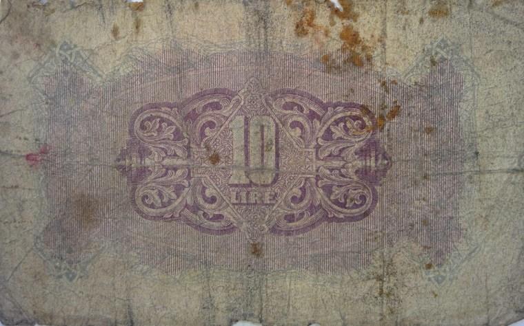 Tripolitania 10 Lira banknote back (2)
