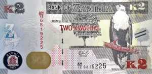 Zambia 2 Kwacha 2015 banknote front