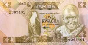 Zambia 2 Kwacha banknote front