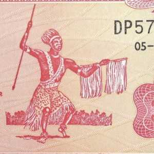 Burundi 20 Franc 2005 banknote front (2) featuring The Intore Warrior Dancer