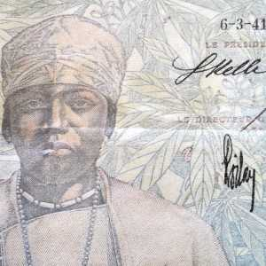 French West Africa 5 Francs 1941 banknote front (2)