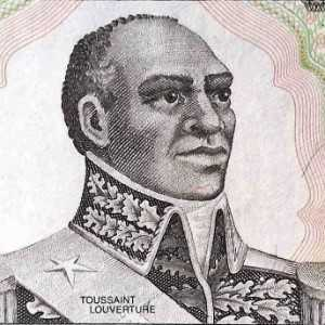 Haiti 1 Gourde 1989 banknote front (2), featuring portrait of Toussaint Louverture